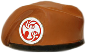 Ceramic Glass Beret, Multi-National Peacekeeper With Crest