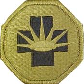 8th Medical Brigade Multicam Shoulder Patch With Velcro