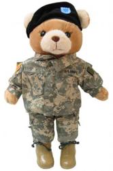 Large Bear In ACU Army Combat Uniform Female